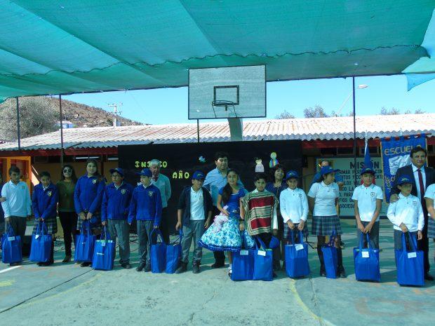 Inicio año escolar Escuela Canela Baja